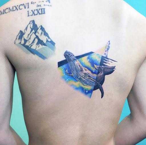 Esta iluminado baleia