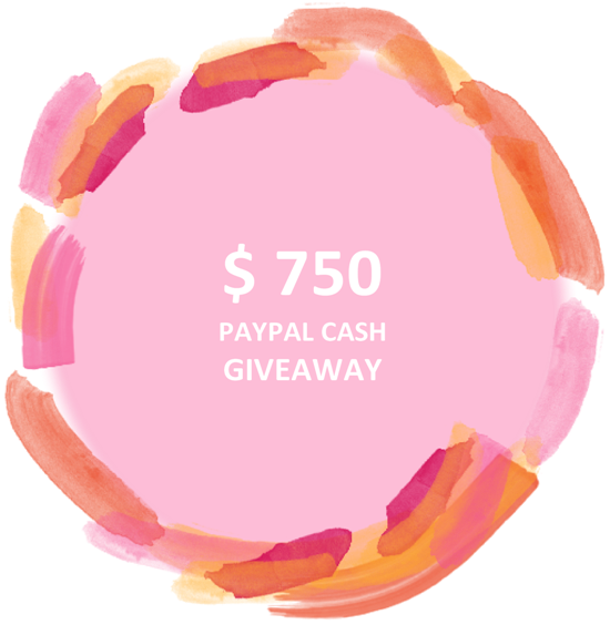 $750 Paypal Cash Giveaway - BirdsParty.com