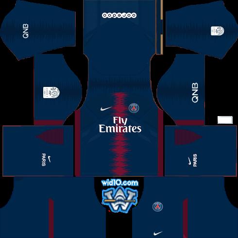 Paris Saint-Germain (PSG) 2018/2019 - Forma (Kits) & Logo Dream ...