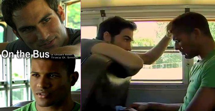 En el bus. corto