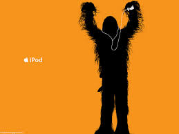Star Wars Chewbacca listens to his iPod while running, too.
