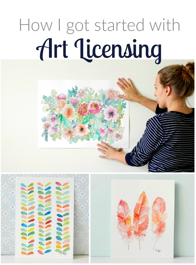 Learn how I got started licensing my own art plus get some savvy art business tips to get yourself going in the art licensing field! by Grow Creative Blog