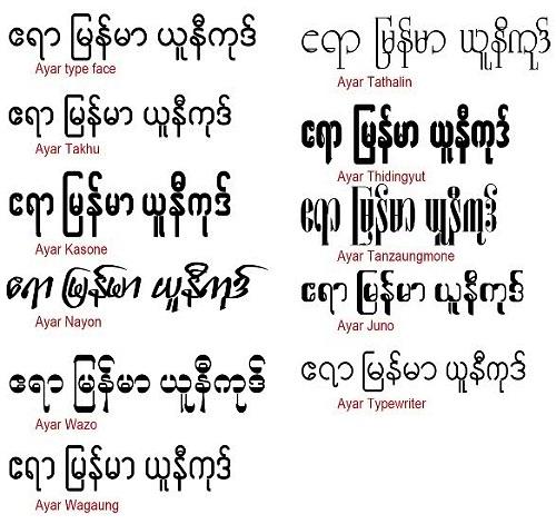 Myanmar Unicode Font Ttf Download For Mac