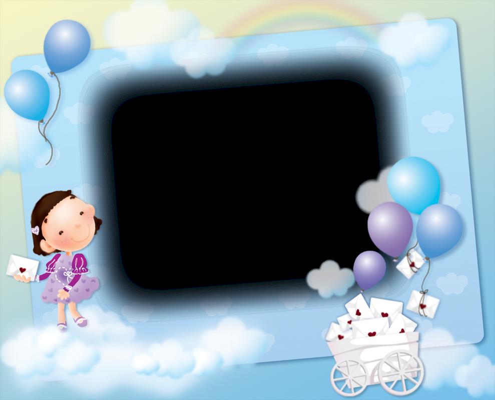 Marcos Para Fotos Infantiles En Png. Dibujos De Niños