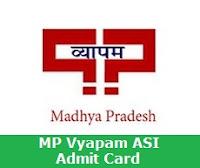 MP Vyapam ASI Admit Card