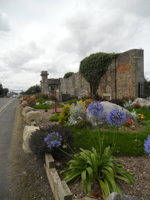 Old stone structure and garden near Ringsend in Dublin
