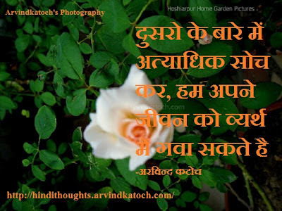 Hindi Thought, Life, waste