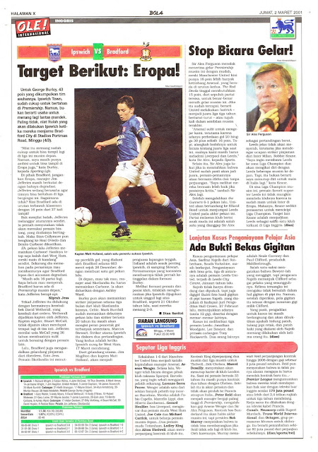 IPSWICH VS BRADFORD TARGET BERIKUT: EROPA