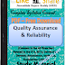 Quality Assurance and Reliability PDF Study Materials cum Notes, E-Books Free Download