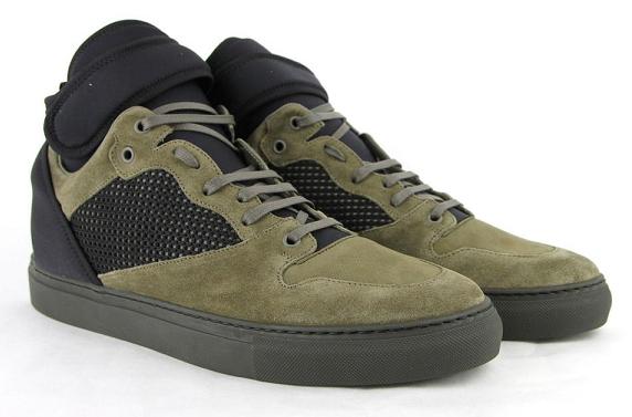 Giày thể thao Balenciaga High Top Black Olive Green