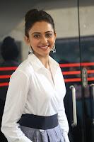 Rakul Preet Singh looks super cute in White Shirt and Skirt at Jaya Janaki Nayaka press meet 10.08.2017 017.JPG