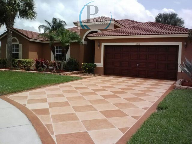 Decorative Concrete For A Residential Driveway Remodel