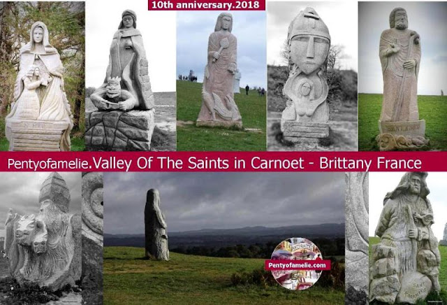 Remarkable Valley of the saints site in Brittany Dozens of Giants about four-metre-high Granite Statues of Saints placed on a feudal mound.