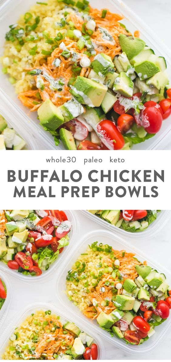 Buffalo Chicken Ranch Whole30 Meal Prep (Whole30 Meal Prep)