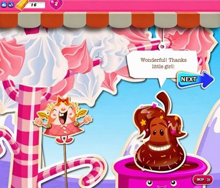 Candy Crush Saga 411-425 ending