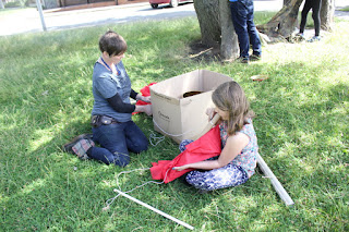 As the fire cooled down, we started making dens.