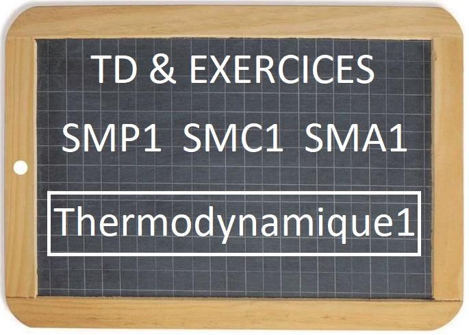 TD et Exercices corrigés Thermodynamique1 SMP1 SMC1 SMA1 S1 PDF