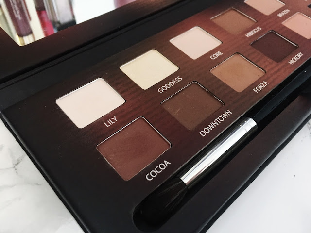 Left side of make up palette