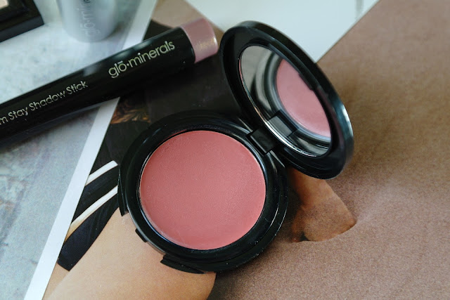 glo minerals firstlove first love cream blush swatch review