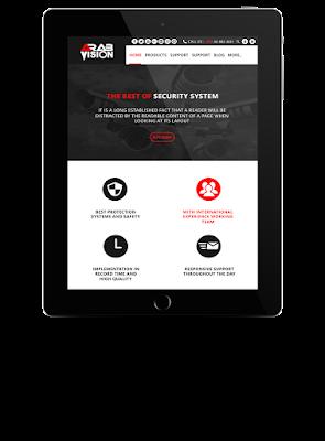 معاينة من أعمال ويب تكنيك لتصميم المواقع بتقنية Ui Design بتعاون مشترك لبرمجة وتطوير القالب
