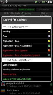 Titanium Backup Pro screenshot 2