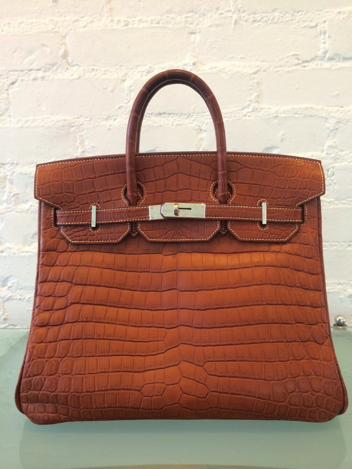 f940e960326 Hermes Birkin HAC 32cm croc matte in caramel with palladium hardware, 2000.  SOLD