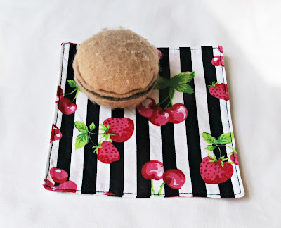 image rockabilly cocktail napkins stripes domum vindemia cherries strawberries fruit