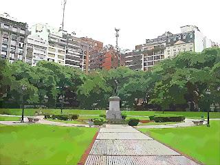 Passarelas Levam à Estátua, na Plaza Libertad, Buenos Aires