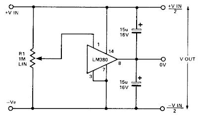 simple split power supply circuit diagram
