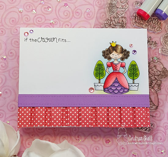 If the crown fits by Andrea features Once Upon a Princess by Newton's Nook Designs; #newtonsnook