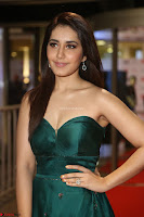 Raashi Khanna in Dark Green Sleeveless Strapless Deep neck Gown at 64th Jio Filmfare Awards South ~  Exclusive 135.JPG