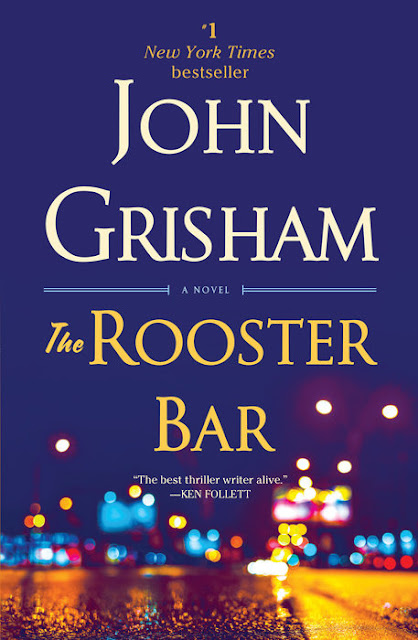 A book cover is an ad. The art and title need to work together to compel the readers to read the blurb. They need to tell: Who, What, When & Where; or it fails, no matter how big a following or marketing budget the author has. Today's featured cover fail: THE ROOSTER BAR BY @JohnGrisham & @randomhouse #AmWriting #WritingTips #CoverArt