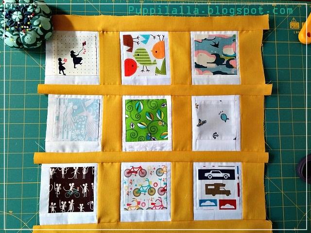Fussy Cuts, Patchwork, Polaroid Photo Pillowcase, Puppilalla, Cushion Cover,