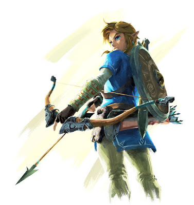 Legend of Zelda Breath of the Wild Link with Arrow