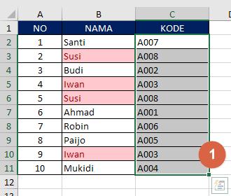 Cara Mencari Duplikat Data Excel 1
