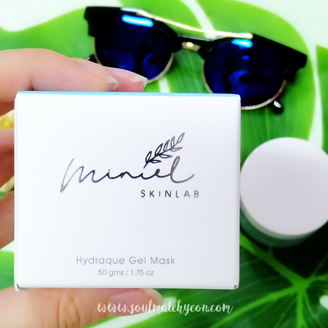 Review; Miniel Skinlab's Hydraque Gel Mask