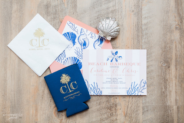 Beach Wedding Monogram