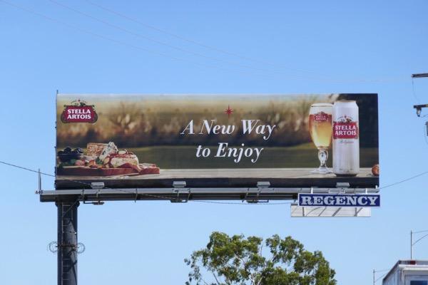 Stella Artois new way to enjoy billboard