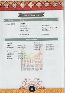 Jadwal dan panduan acara Festival Pulau Penyengat 2016