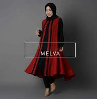 setelan muslim melva black