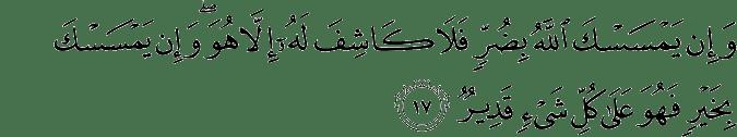 Surat Al-An'am Ayat 17