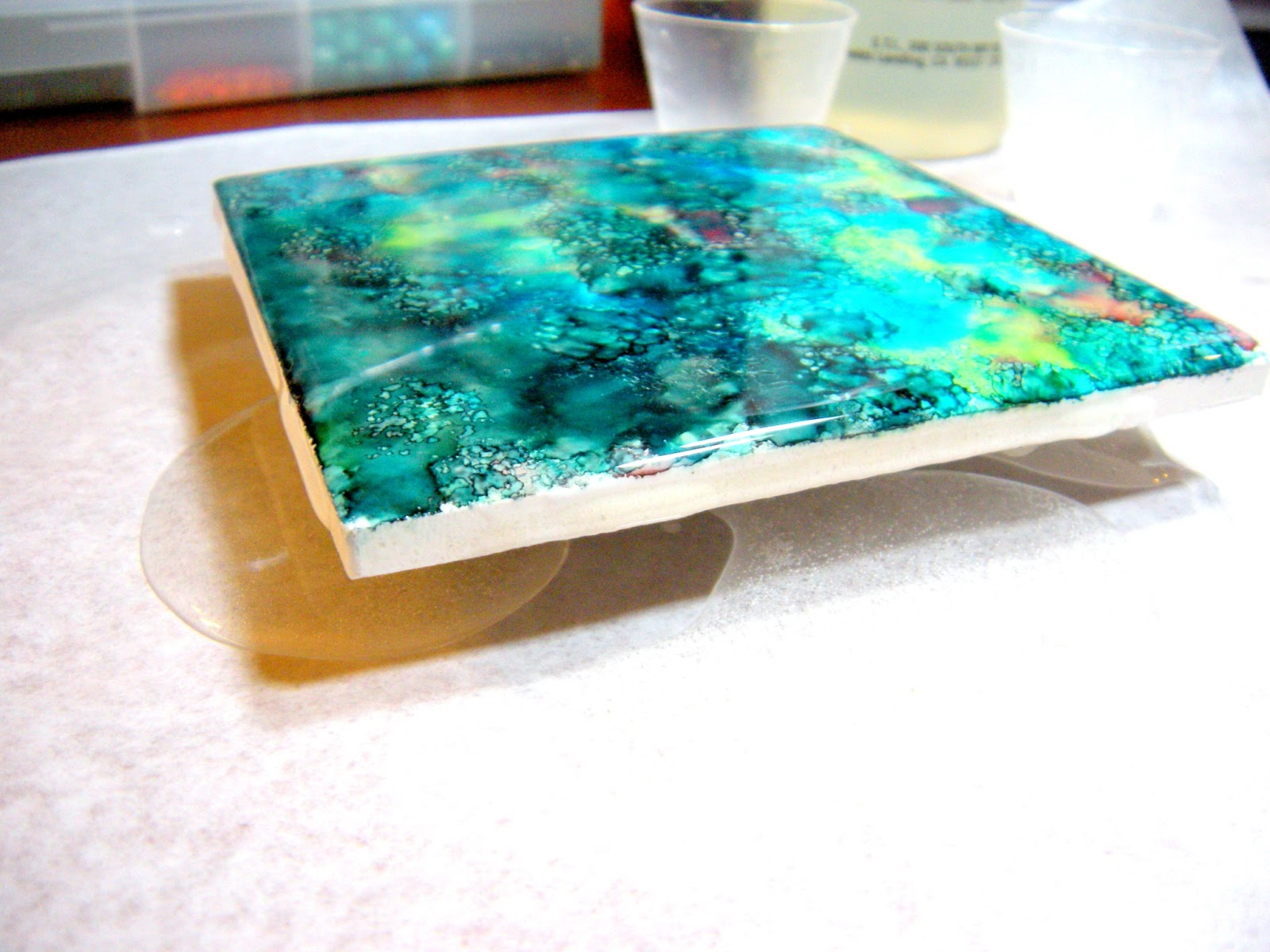 Accidentally Excellent: DIY Alcohol Ink Coasters (2-Part