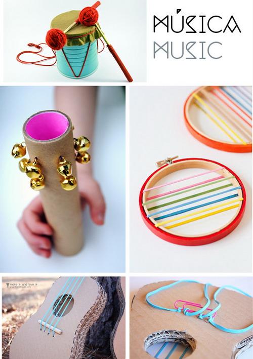 El mundo del reciclaje instrumentos musicales para ni os for Casas plasticas para ninos