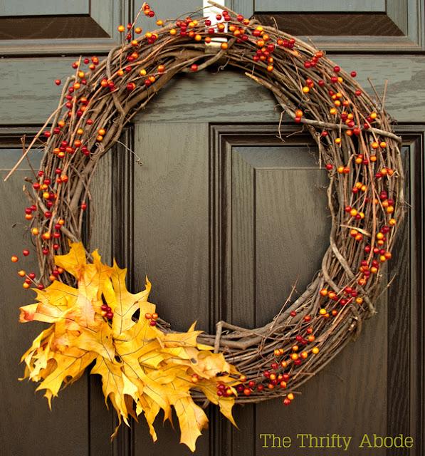 3 Great Swift Y And Thrifty Diy Decorating Ideas: Easy DIY Fall Wreath
