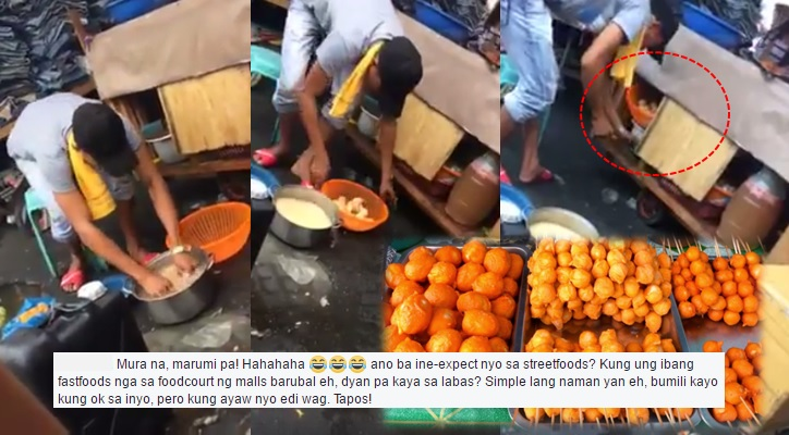 VIRAL VIDEO: 'Kwek kwek' and 'tokneneng' vendor recycles his goods
