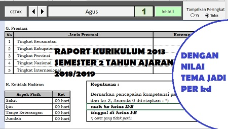 download raport kurikulum 2013 semester 2 tahun pedoman 2018/2019