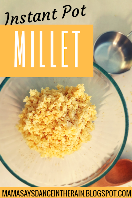 how to cook millet in instant pot