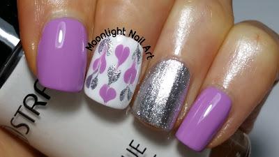 Drag Marble Hearts Nail Art Design -   Valentine's Day Nail Art