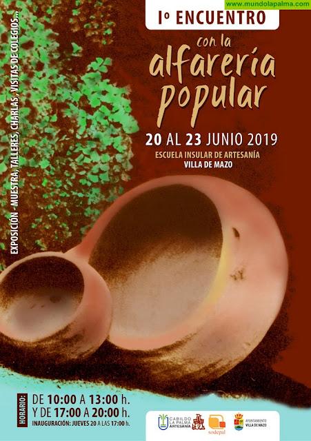 El Cabildo de La Palma organiza en Villa de Mazo el 'I Encuentro con la alfarería popular' con una exposición, talleres y charlas
