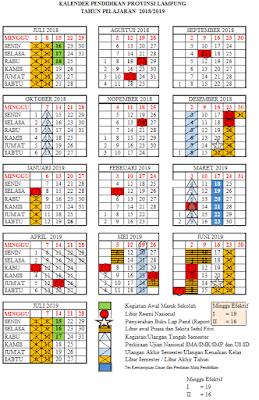 Download Kalender Pendidikan Tahun 2018/2019 Lampung